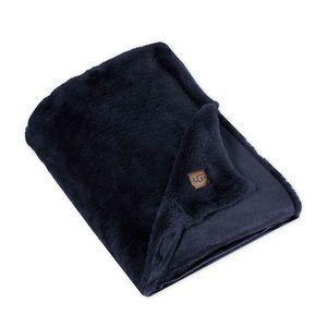 UGG Navy Blue Polar Throw Blanket 50 in x 70 in